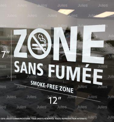 NOUVELLE NORME LOI 44 26 NOVEMBRE 2016, AUTOCOLLANT ZONE SANS FUMÉE BLANC, LOI SUR LE TABAC 2016, AFFICHE INTERDIT DE FUMER POUR VITRINE, AUTOCOLLANT DÉFENSE DE FUMER, LOI ANTI TABAC, AUTOCOLLANT INTERDIT DE FUMER, SMOKE-FREE ZONE STICKER, TOBACCO ACT